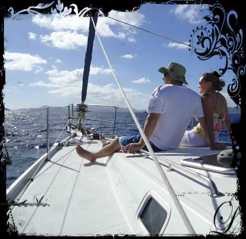 Celebrate Valentines day on a Sailboat !