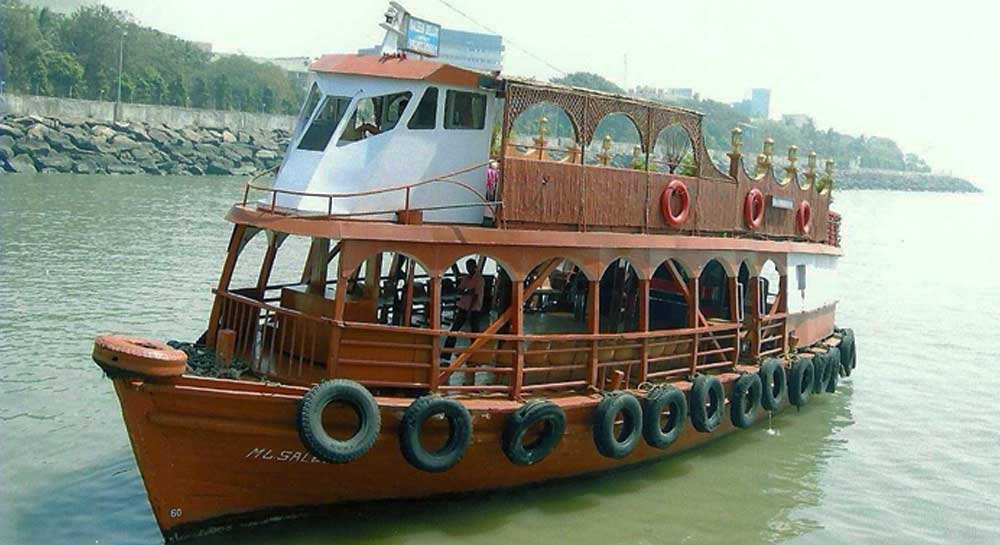 Party Ferry Boat (Brown) on Charter in Mumbai